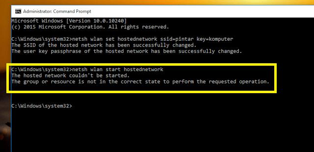 Cara Mengatasi Error Saat Menjalankan Hosted Network Pada Windows1