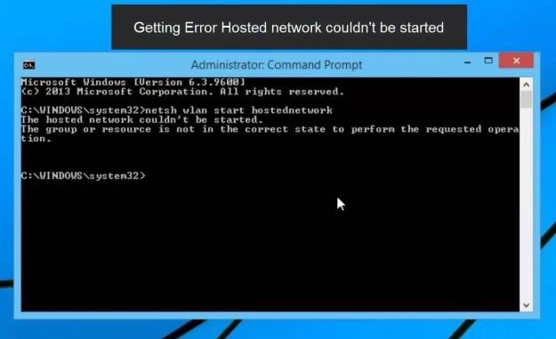 Cara Mengatasi Error The Hosted Network Couldn\u0027t Be Started Pada