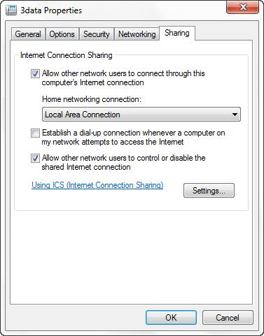 Cara Sharing Koneksi Internet Modem USB Melalui LAN Windows4