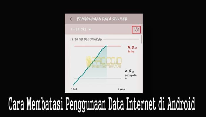Cara Membatasi Penggunaan Data Internet di Android