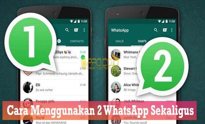 Cara Menggunakan 2 Whatsapp Sekaligus Dalam 1 Hp Tanpa Root Mudah Pro Co Id