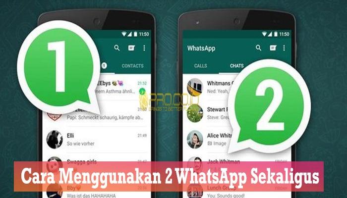 Cara Menggunakan 2 WhatsApp Sekaligus 123