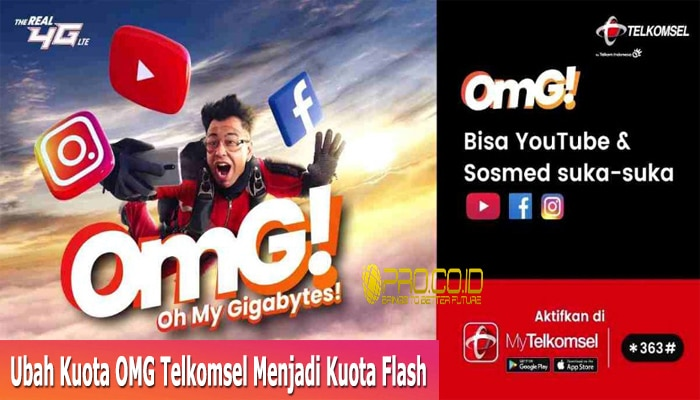 Ubah Kuota OMG Telkomsel Menjadi Kuota Flash