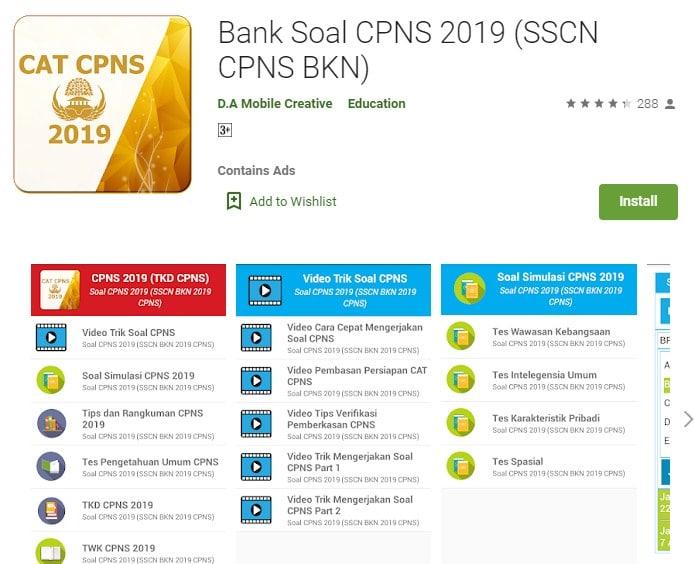 Bank Soal CPNS 2019 (SSCN CPNS BKN)