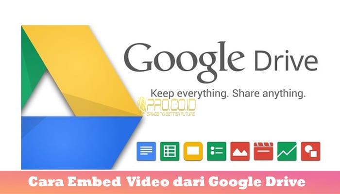 Cara Embed Video dari Google Drive