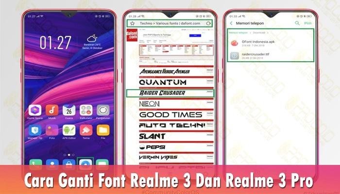 Cara Ganti Font Realme 3 Dan Realme 3 Pro