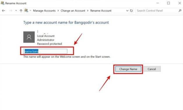 Cara Mengubah Nama User di Windows 10 4