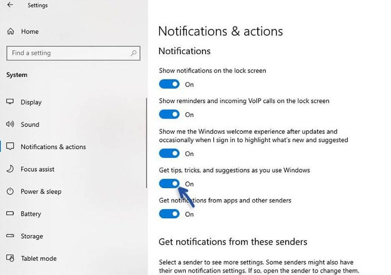 Cara Menonaktifkan Iklan, Tips, Trik dan lain-lain di Windows