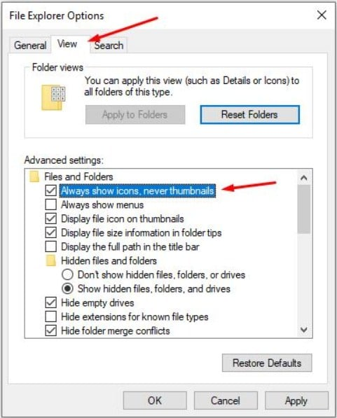 Error pada windows Explorer