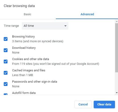 Hapus Riwayat Penelusuran di Browser