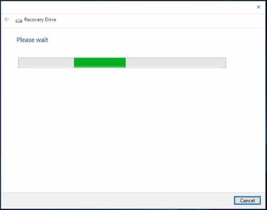 Recovery drive windows 3