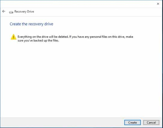 Recovery drive windows 6