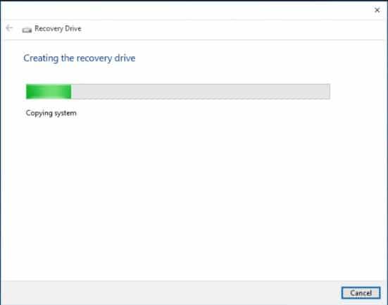 Recovery drive windows 7