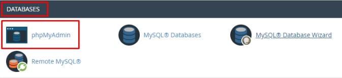 Reset melalui Database phpMyAdmin 5