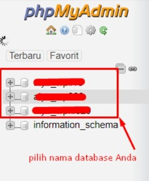 Reset melalui Database phpMyAdmin 6