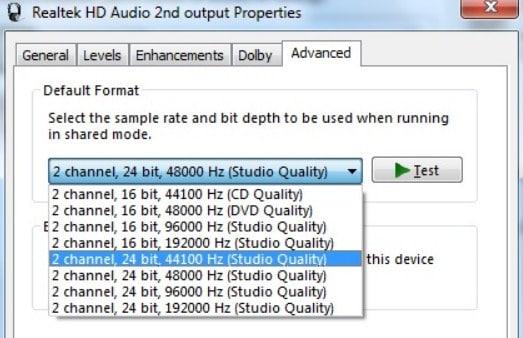 Ubah Format Suara Default 3