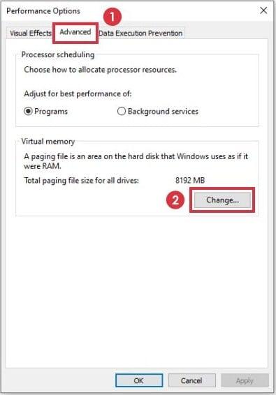 Virtual Memory di Windows 10 4