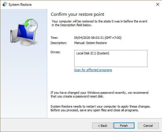 restore point 5