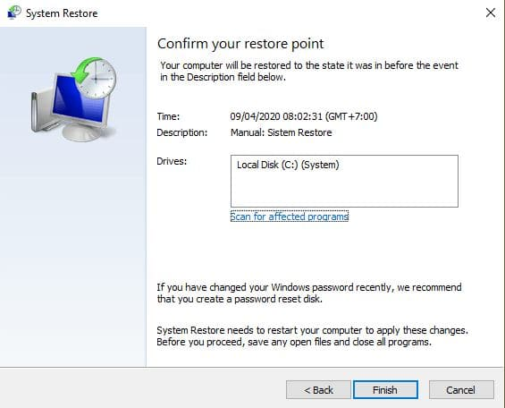 restore windows 3