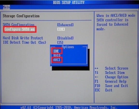 Atur SATA Controller di Menu BIOS