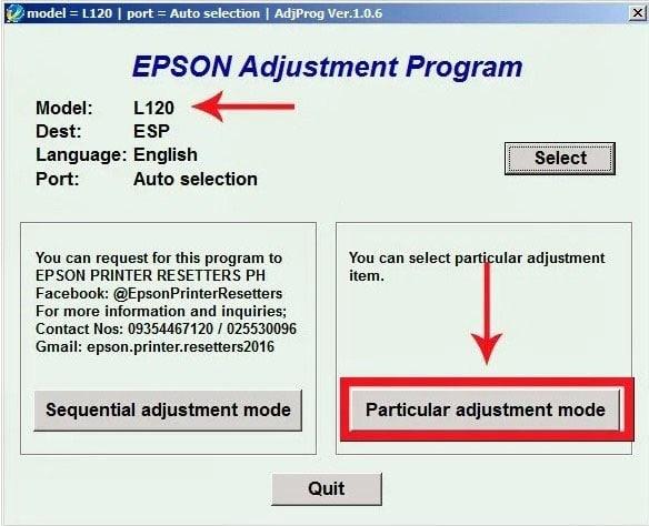 Cara Reset Printer Epson L120 1
