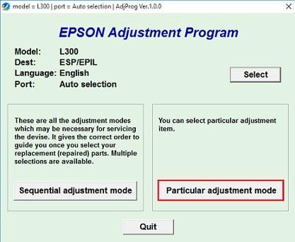 Reset Printer Epson L300 Dengan Resetter 3